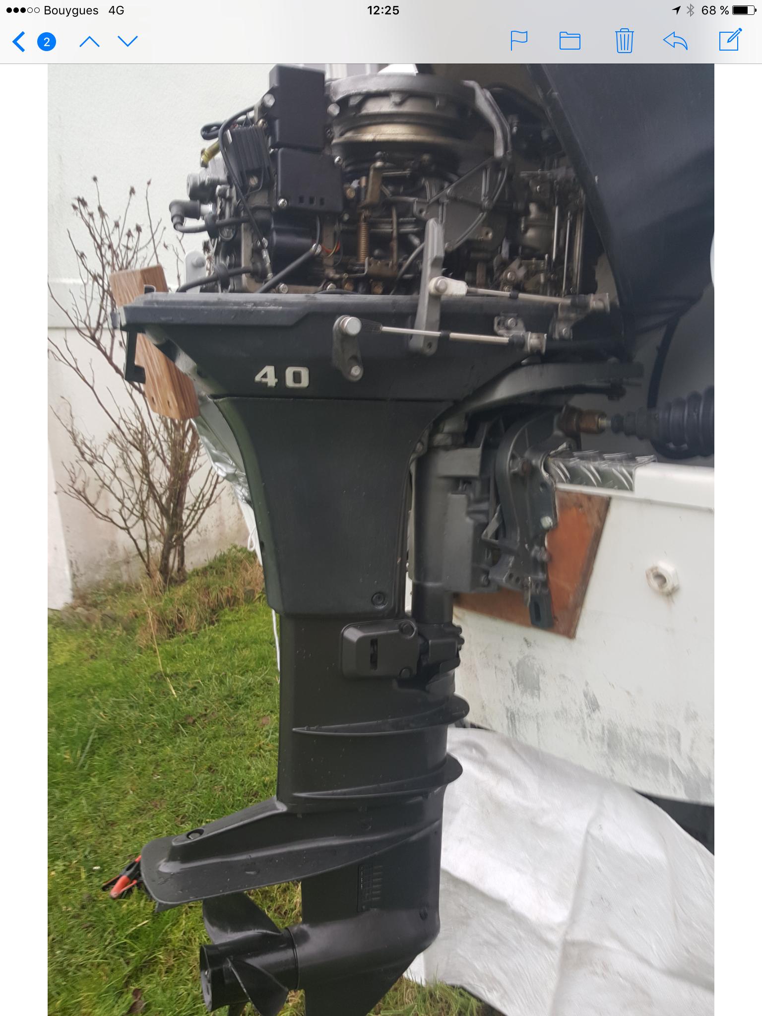 Moteur hors-bord Yamaha mariner 40 cv